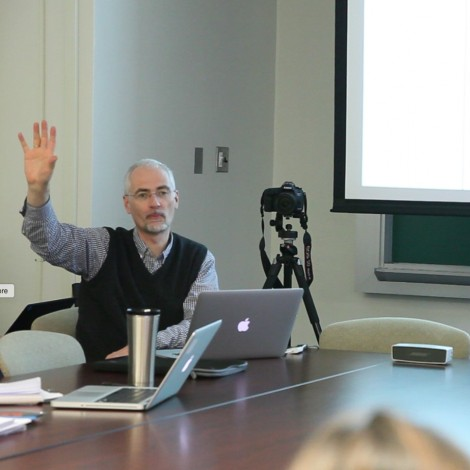 Hoeckner and Nusbaum teaching a class on wisdom